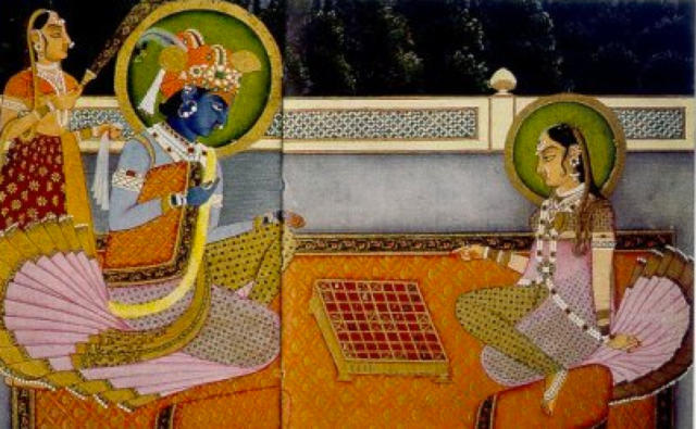 Chess-10-Krishna-and-Radha-playing-chaturanga